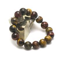"""Bracelet """"trois oeil""""(oeil de tigre/oeil de taureau/oeil de faucon) , perle ronde 14 mm"""