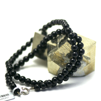 """Collier onyx , """" perle ronde 6 mm"""""""