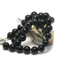 """Collier onyx, """"perle ronde 12 mm """""""