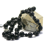 """collier long onyx , """" perle ronde 10 mm -facettée 6 mm"""""""