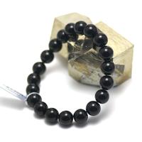"bracelet Onyx , "" perle ronde 10 mm """