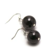 """Boucle d'oreille grenat , """" perle ronde 13 mm """""""