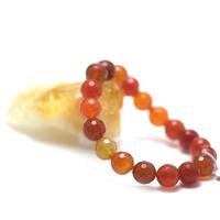 """bracelet cornaline , ' perle ronde facettée 10 mm """""""