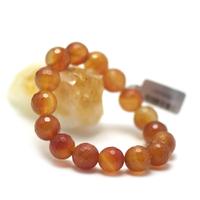 """bracelet cornaline , """" perle ronde facettée 12 mm """""""