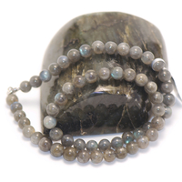 "collier labradorite : ""ronde 8 mm """
