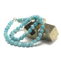 "collier amazonite , ""perle ronde facettée 8 mm"""