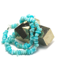 """collier amazonite des Andes , """" chips baroque """""""
