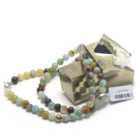 "collier amazonite brut , "" perle ronde 6 mm """