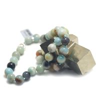 "collier amazonite brut , ""perle ronde 10 mm """