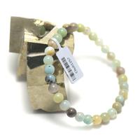 "bracelet amazonite brut , ""perle ronde 6 mm"""