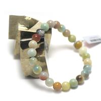 "bracelet amazonite brut , "" perle ronde 8 mm"""