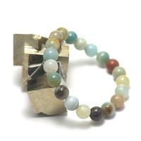 "bracelet amazonite brut , "" perle ronde 10 mm """
