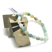 "bracelet amazonite brut , "" olive facettée """