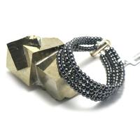 """bracelet hématite , création """"quatre rangs"""""""