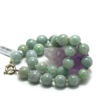 "collier jade , "" ronde 13 mm -vert clair"""