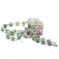 "collier long jade , création ""pendentif papillon"""