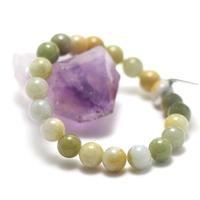 "bracelet jade , "" perle ronde 9,5mm , multicouleur """