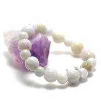 "bracelet jade , "" ronde motif lotus - perle ronde 9 mm"""