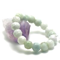 "bracelet jade , ""perle motif lotus,vert clair"""