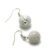 "boucle d'oreille Jade , "" perle lotus"""