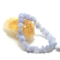 """bracelet calcédoine bleu , """" rondelle baroque"""""""