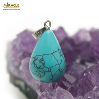 "pendentif ""goutte"", turquoise"