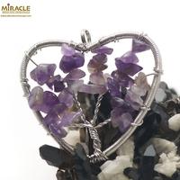 """pendentif améthyste """"attrape rêve coeur"""",pierre naturelle"""