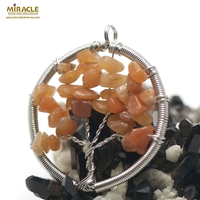 "pendentif cornaline "" attrape rêve ronde"" , pierre naturelle"