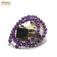 """Collier améthyste """"perle ronde facettée 8 mm """",pierre naturelle"""