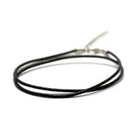 1 cordon pour pendentif en cuir véritable rigide 2 mm