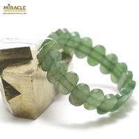 """bracelet aventurine """"plaquette ovale facettée"""",003"""