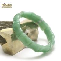 "bracelet aventurine "" plaquette bambou"" ,004"