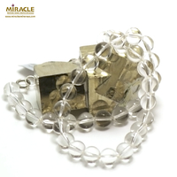 "collier cristal de roche "" perle 10 mm"""