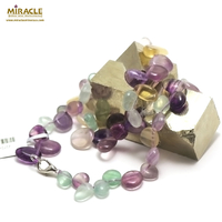 "collier fluorite ""Ts baroque"" , pierre naturelle"