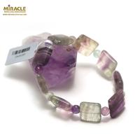 "bracelet fluorite ""carrée - ronde 6 mm"",001"