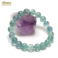 "Bracelet fluorite vert ""perle ronde 10 mm"""