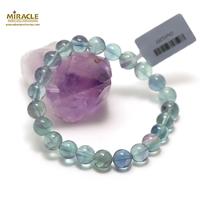 "bracelet fluorite vert ""ronde 8 mm"""