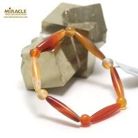 """bracelet cornaline """"olive ronde 6 mm """",001"""