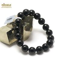 "bracelet onyx "" perle ronde 12 mm """