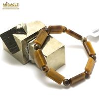 "bracelet oeil du tigre "" rectangle - perle ronde 6 mm """