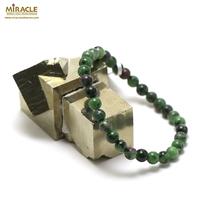 "bracelet zoïsite "" perle ronde 6 mm"""