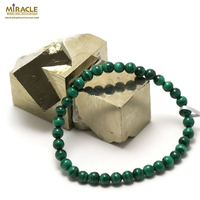 "bracelet malachite ""perle ronde 5 mm"""