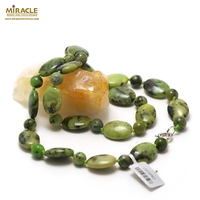 """collier chrysoprase """"palet ovale - ronde 8 mm"""""""