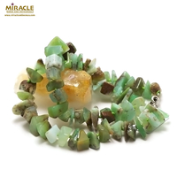 "collier chrysoprase "" grand chips AAA"", pierre naturelle"