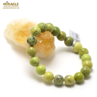 "bracelet chrysoprase "" ronde 10 mm "", pierre naturelle"