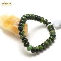 "bracelet chrysoprase "" rondelle 10x6 mm"""