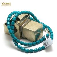 "collier turquoise ""mini tube"" , pierre naturelle"