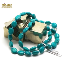 "collier turquoise ""palet ovale"", pierre naturelle"