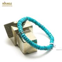"bracelet turquoise""mini - rondelle"",pierre naturelle"