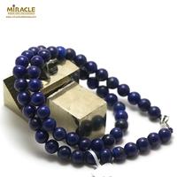 "collier lapis lazuli ""perle ronde 8 mm"""